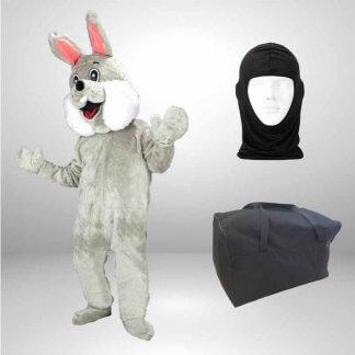 Hase-Lauffiguren-Kostuem-Maskottchen-grau